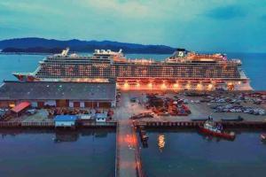 MV Genting Dream at Kota Kinabalu Port, Sabah Malaysian Borneo