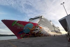 Borneo Excursions - MV Genting Dream at Kota Kinabalu Port, Sabah Malaysian Borneo