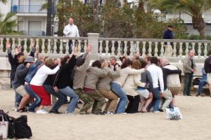 Team building activities at Sitges beach