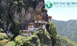 Taktsang Monastery or Tiger's Nest in Paro Bhutan
